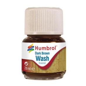 Humbrol Enamel Wash Dark Brown 28ml hum0205