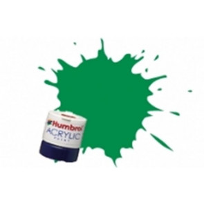 Humbrol Acrylic Paint 14ml Gloss Emerald Green humb0002