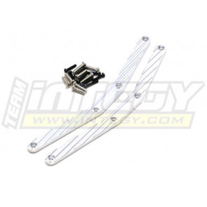 Integy Alloy Chassis Brace Savage X Silver int T6913Silver