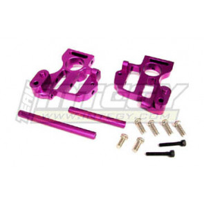 Integy hpi savage alloy front or rear gearbox bracket (1) purple