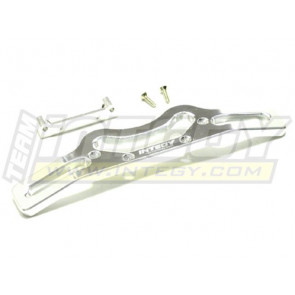 Integy savage X alloy rear bumper silver T7092silver