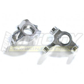 Integy Heavy Duty Fr Steering Block Hellfire (2) Silver T8401sil