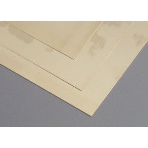 K&S Brass Sheet 6x12Inch .010Inch FS10 (1pcs) 16402