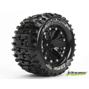 Louise 1/10 Mt-Pioneer Tyres Mounted Front Bearing Hub (2Pcs) T3202Bb