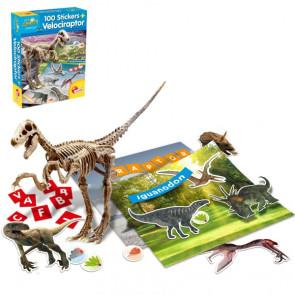 Lisciani Genius 100 Stickers + Velociraptor Kit 60580
