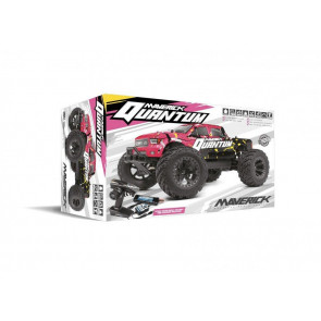 Maverick 1/10 Quantum MT 4wd Brushed Truck (Pink/Yellow mv150101