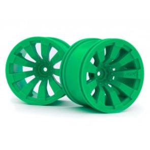 Maverick 1/10 Quantum+ XT 3.2in Wheel (Green/2pcs) mv150249