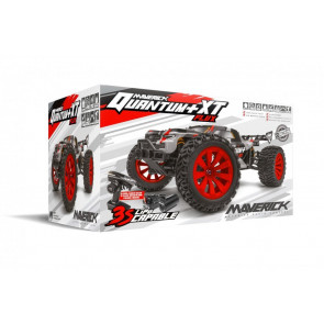 Maverick 1/10 Quantum+ Xt Flux 3S Brushless Electric Truggy 4Wd Red mv150301