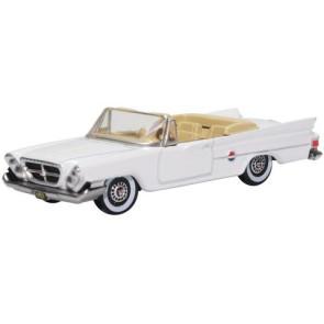 Oxford 1/87 Chrysler 300 Convertible 1961 Open Top Alaskan White 87Cc61003