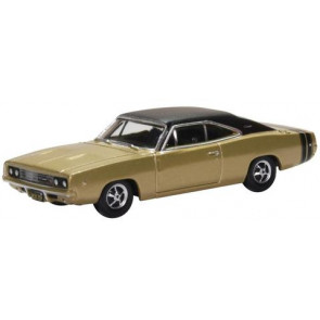 Oxford 1/87 Dodge Charger 1968 Gold And Black 87Dc68002