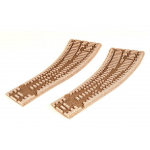 Peco HO/OO Left Hand Curved Turnout Ballasted Inlay st260
