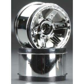 Pro-Line Desperado 2.8in Chrome Wheels F/R (2) 2729-01
