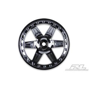 Proline Desperado 2.8in Blk Chr Fr/Rr Wheel (2) 2729-11