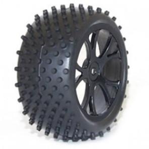 River Hobby 1/10 4wd Buggy rear wheel set Spike Spirit (2pc) (ftx-6301) Black 10301b