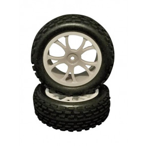 River Hobby 1/10 2wd Buggy Front Wheels Set White (2pc) 10302