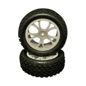 River Hobby 1/10 2wd Buggy Front Wheels Set White (2pc) 10302w