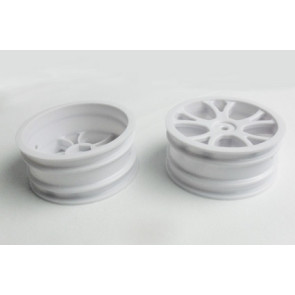 River Hobby 1/10 4Wd Buggy Front Wheel Rims (2Pc) (Ftx-6305) White 10304w