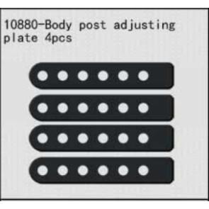 River Hobby Body Post Adjusting Plates (rh1048/1049/1050 10880
