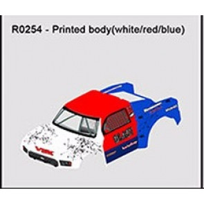 River Hobby Painted Body Blast 2.0 White/Red/Blue r0254