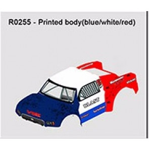 River Hobby Painted Body Blast 2.0 Blue/White/Red r0255