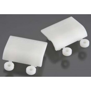 RPM Baja 5B Lower Shock Skid Plates Dyeable White (2) 82161
