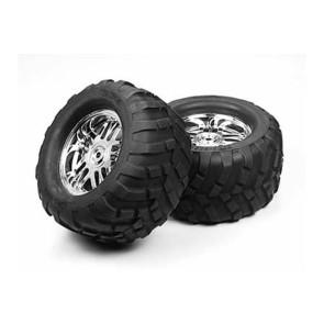 Tamiya Low Block Tire And Wheel 51029