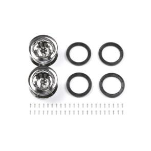 Tamiya 40 Metal Plated Wheels Offset 0 Cr-01 (2) 54101