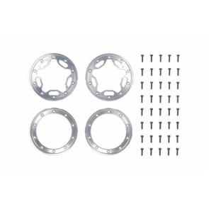 Tamiya Aluminum Beadlock Ring Star Cr-01 (2) 54110