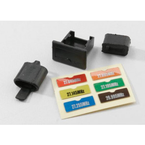 Traxxas Crystal holders, transmitter & receiver/ decal 2030