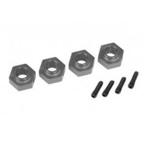 Traxxas TRX-4 12mm Aluminum Hex Wheel Hubs (4pc) Grey 8269a