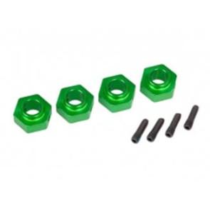 Traxxas TRX-4 12mm Aluminum Hex Wheel Hubs (4pc) Green 8269g