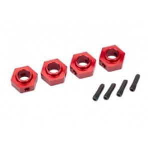 Traxxas TRX-4 12mm Aluminum Hex Wheel Hubs (4pc) Red 8269r