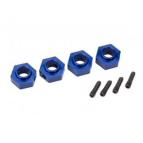 Traxxas TRX-4 12mm Aluminum Hex Wheel Hubs (4pc) Blue 8269x
