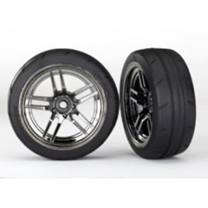 Traxxas 4-Tec 2.0 1.9inch Response Tires w/ Split-Spoke Wheels Front Black Chrome 2pcs 8373