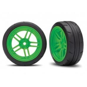 Traxxas 4-Tec 2.0 1.9inch Response Tires w/ Split-Spoke Wheels Front Green 2pcs 8373g