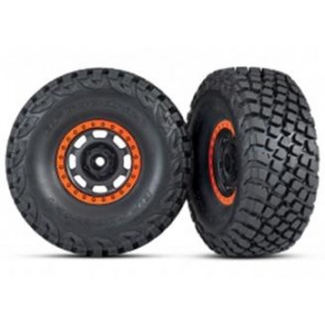 Traxxas UDR BFGoodrich Baja KR3 Tires w/ Beadlock Black Orange Rim (2pc) 8472