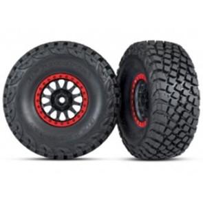 Traxxas UDR BFGoodrich Baja KR3 Tires w/ Beadlock Black Red Rim (2pc) 8474