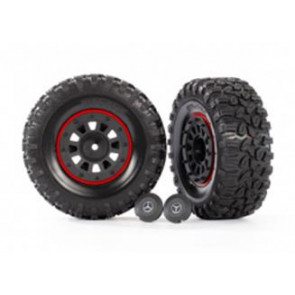 Traxxas Tires/Wheels Assembled 2.2Inch W/Centre Caps (2pc) Black/Red 8874