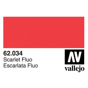 Vallejo 62034 Premium Colour Fluorescent Scarlet 60 ml Bottle