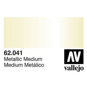 Vallejo 62041 Premium Colour Metallic Medium 60 ml Bottle