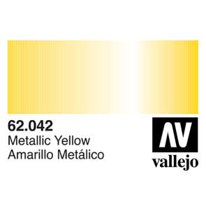 Vallejo 62042 Premium Colour Metallic Yellow 60 ml Bottle