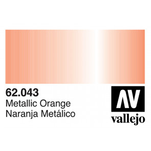 Vallejo 62043 Premium Colour Metallic Orange 60 ml Bottle