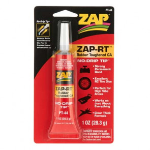 Zap ZAP-RT Rubber Toughened CA Clear Thick 1oz/28.3grams pt44